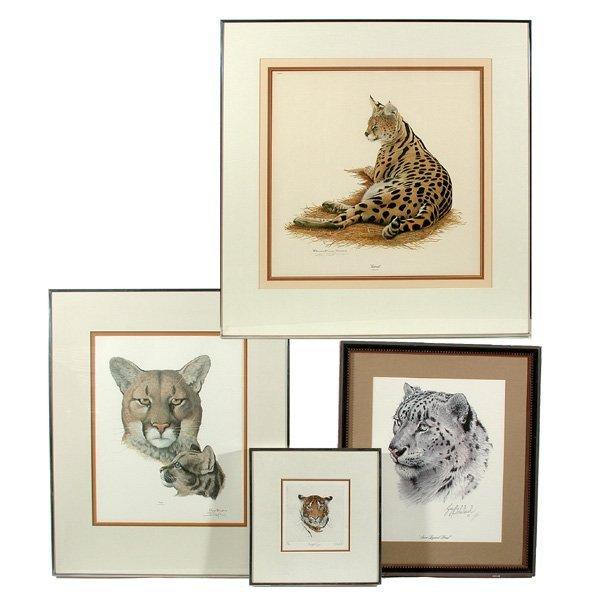 23: Four Framed Wildlife Prints by Arthur Singer