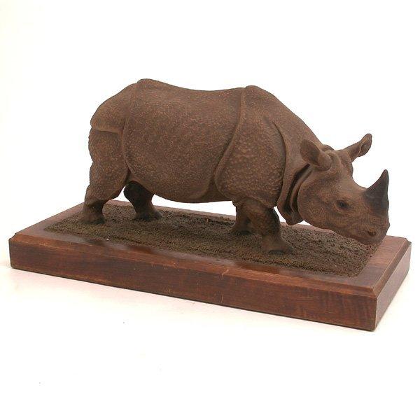 24: Louis Paul Jonas Sculpture of a Rhino