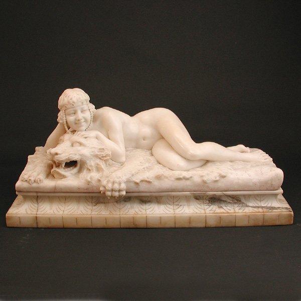 33: Carved Italian Sculpture, by U. Stiaccini