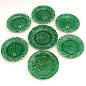 292: Wedgwood Majolica plates, 7