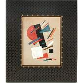489 Russian School Painting Untitled Abstract Composi