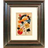 492 Russian School Painting Untitled Abstract Composi