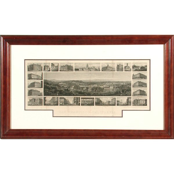 1: Rare Engraving Panorama of San Francisco, Hess