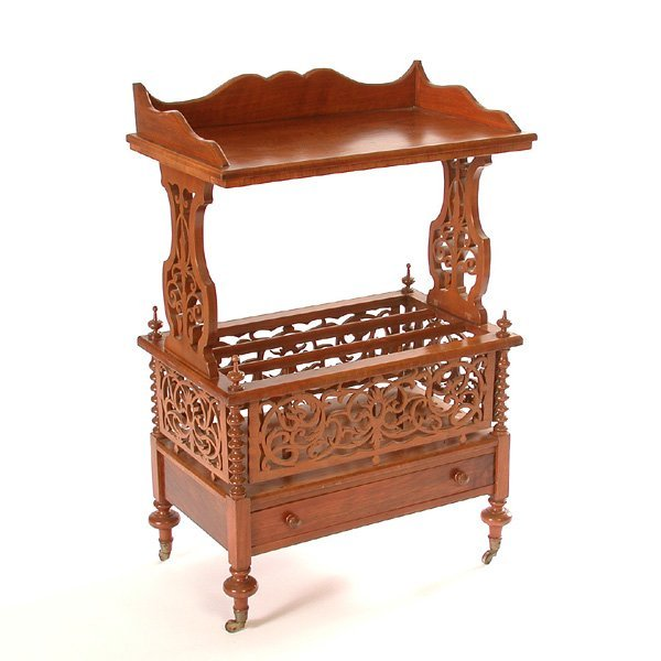 3: Carved Canterbury Bookstand