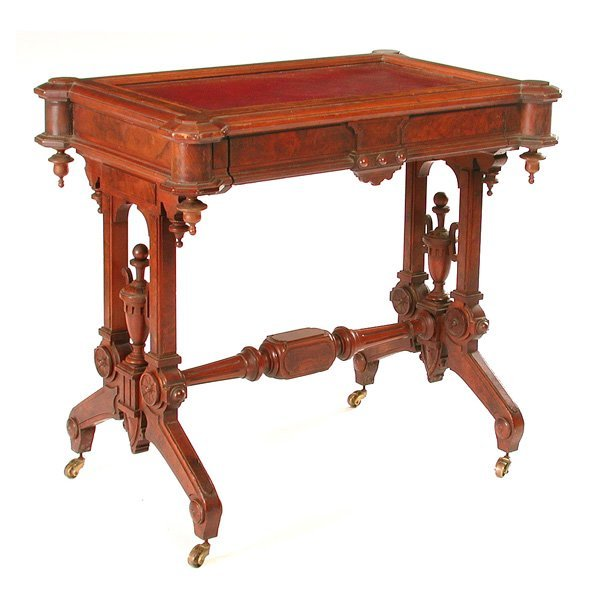 8: Victorian Eastlake Writing Table