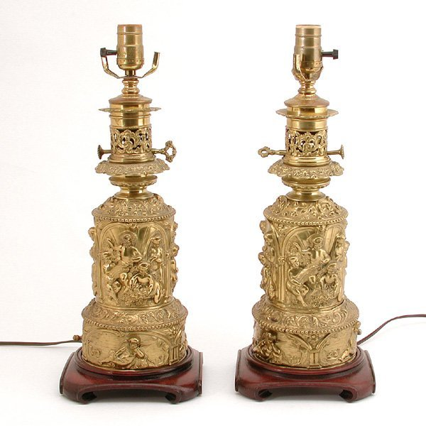 9: Brass Neoclassical Lamps