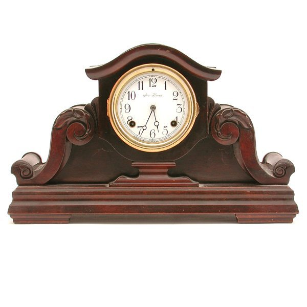 12: New Haven Ebonized Mantle Clock
