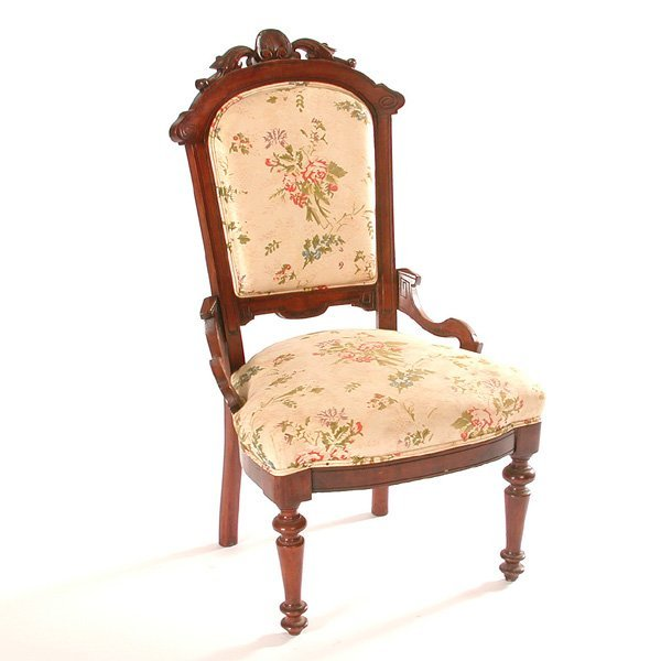 15: Carved Victorian Side Chair