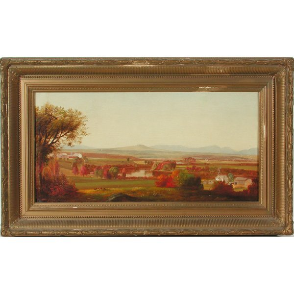 "462: Hudson River School ""On The Kennebunk"" Landscape"