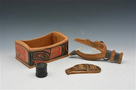 Northwest Coast Native American wooden objects