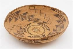 Achumawi Native American sifter basket bowl