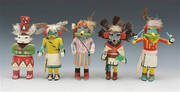 Grouping of 5 Kachina Dolls
