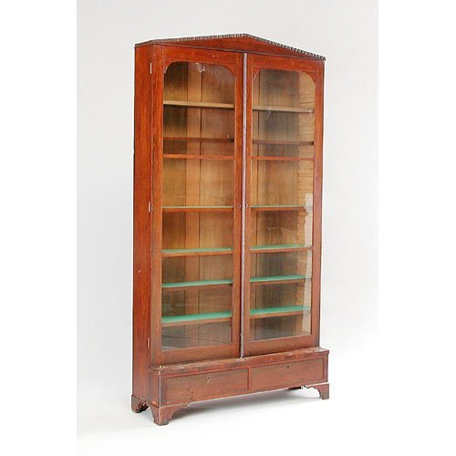 11: Victorian Rosewood Bookcase.