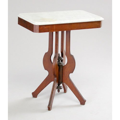 13: Marble Top Stand.