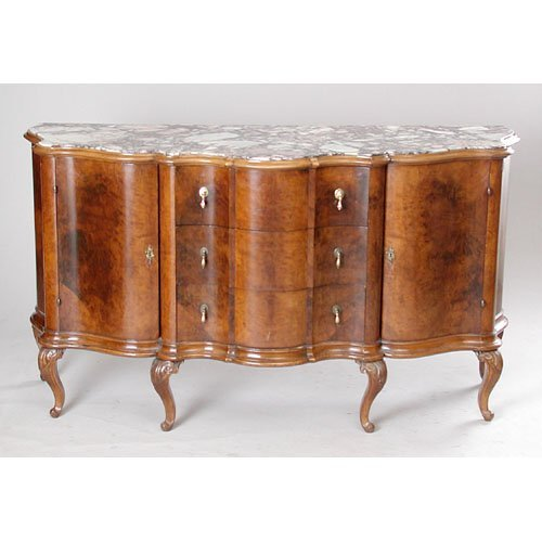 22: French Marble Top Sideboard.