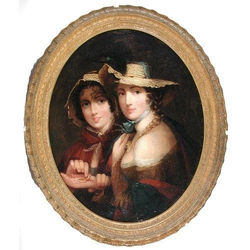354: Portrait Of Twin Sisters, Jane Stuart.