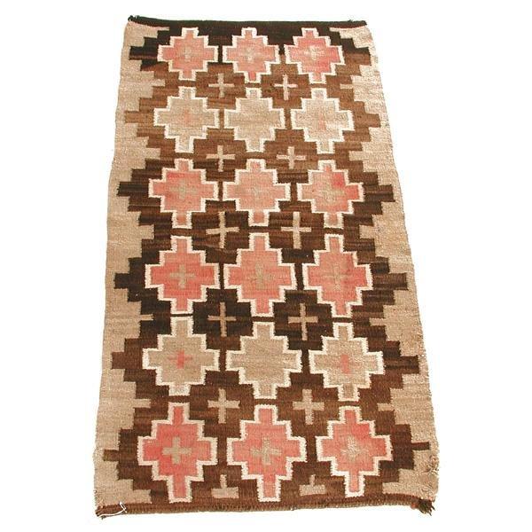 8: Navajo Rug with Cross Design