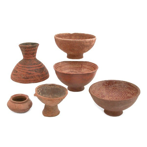 16: Six Pieces of Quillacinga Capa Colombian Pottery