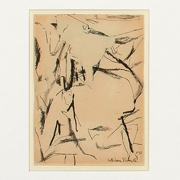 505: Esteban Vicente Painting, Abstract Collage, 1951