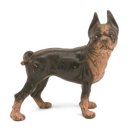 603 Hubley Boxer Cast Iron Dog Doorstop