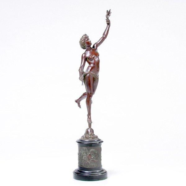 3: 19th c Bronze, Pheme, (Fame) after Boulogne