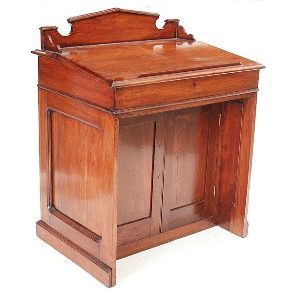 5: Mahogany Slant Top Desk
