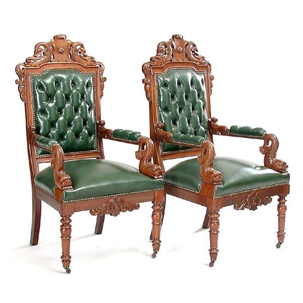 6: Pair of Alexander Roux Armchairs