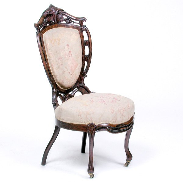 14: Rosewood Frame Parlor Chair