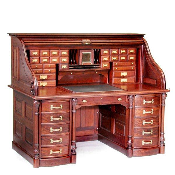 19: Derby Mahogany Roll Top Desk
