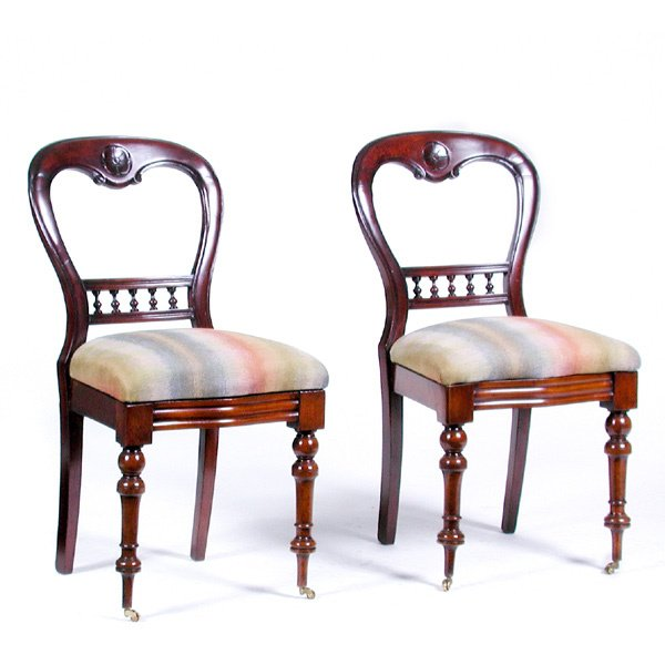 23: Pair of Renaissance Revival Side Chairs