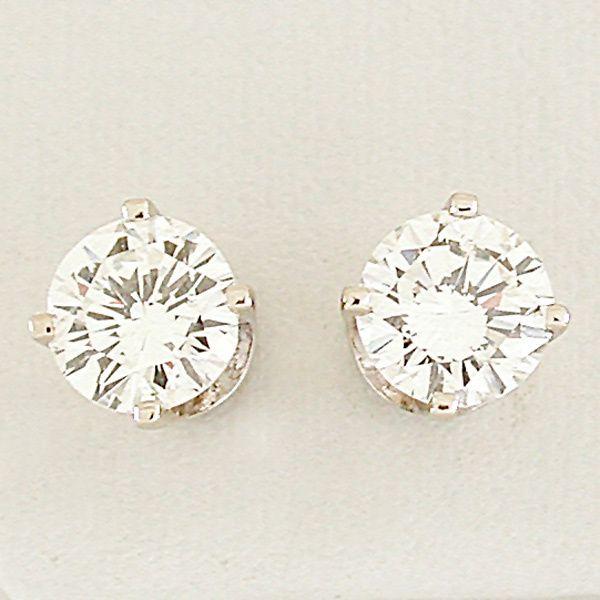 Diamond Stud Earrings.