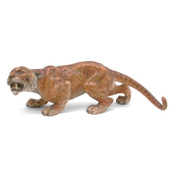 "2: Bronze Cold Painted Tiger, 9"" Long"
