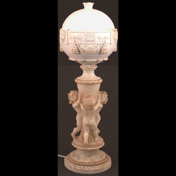 3: Italian Carved Alabaster Lamp