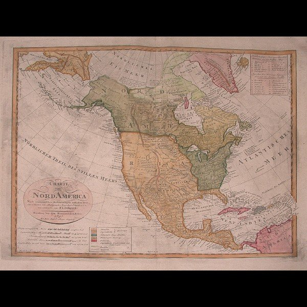 "6: Map by Gussefeld ""Charte Von Nord America"" 1797"
