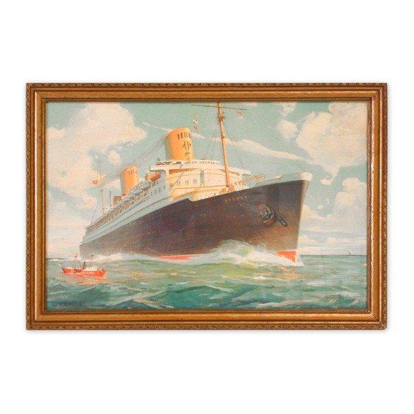22: William J. Aylward Print, SS Bremen