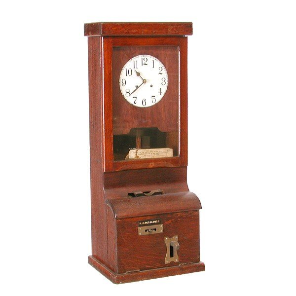 39: Old Punch Card Time Clock