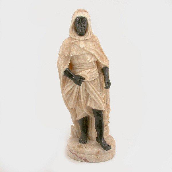 2: Alabaster and Marble Blackamoor Figure
