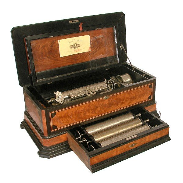 3: Swiss cylinder music box, 19th Century