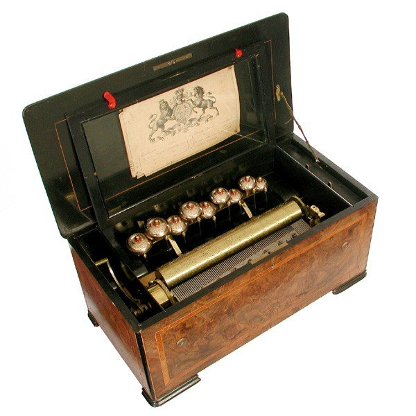 5: Swiss cylinder music box, 19th Century