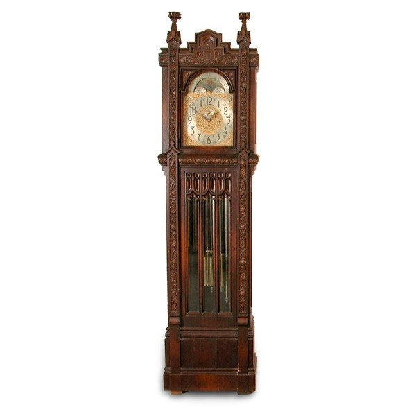 10: Herschede Gothic Cased Tall Clock