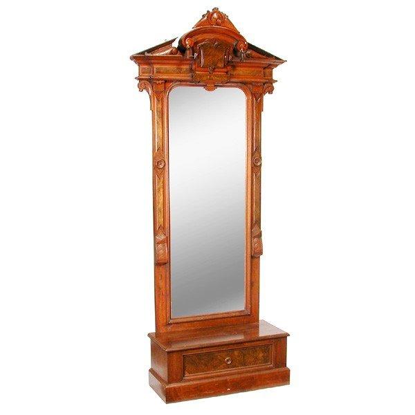 14: Victorian Renaissance Revival Walnut Pier Mirror