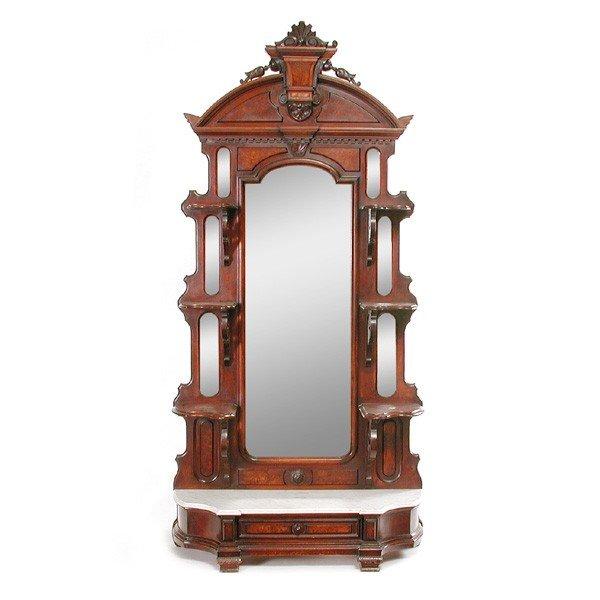 18: American Victorian Renaissance Revival Etagere