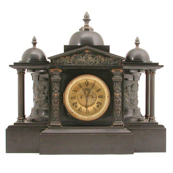 19: Black Slate Mantle Clock