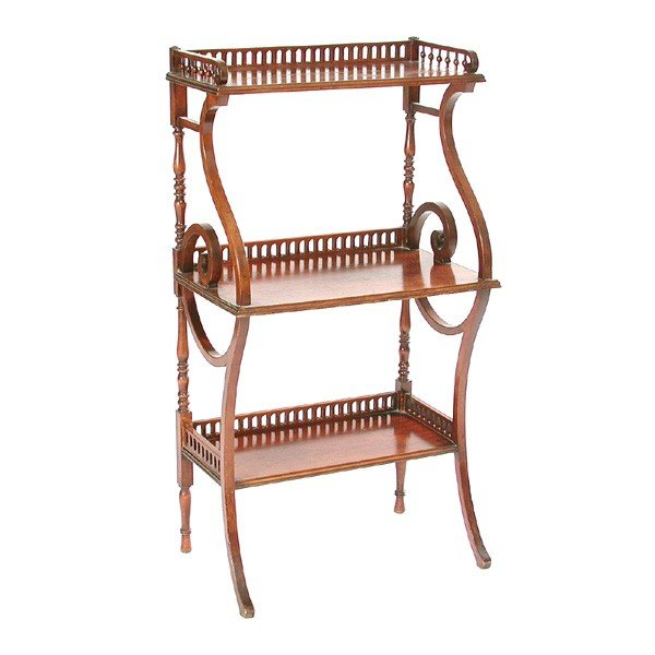 21: Victorian Bookcase with Openwork Gallery