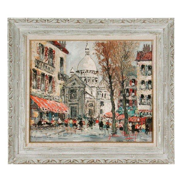 559: Jean Remy Painting, Paris Street Scene