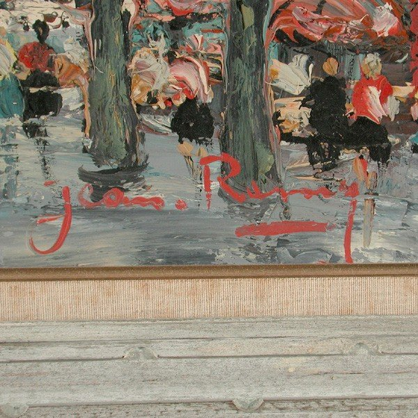559: Jean Remy Painting, Paris Street Scene - 2