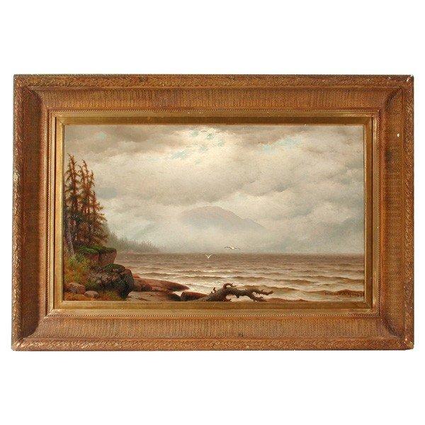 565: William F. de Haas, Maine Coastal Painting, 1978
