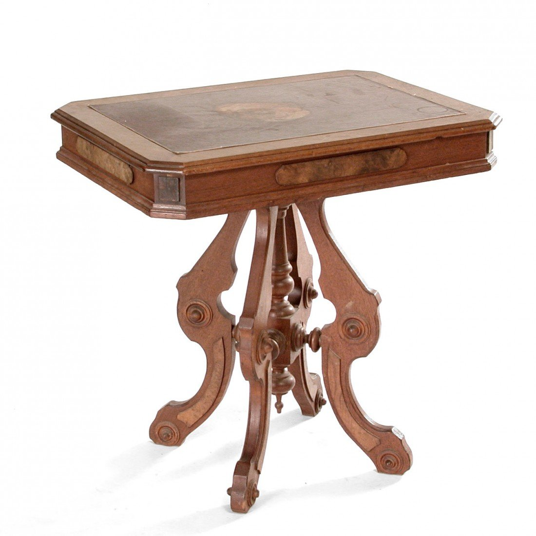21: American Victorian Walnut Parlor Table.