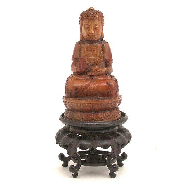 564: Fine Rhinoceros Horn Buddha seated