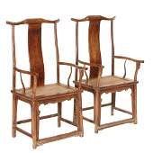 699: Chinese Armchairs, 18th c, probably Huanghuali